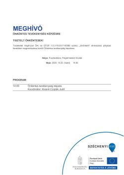 MEGHÍVÓ, Önkéntes képzés, 2020.10.20.-1