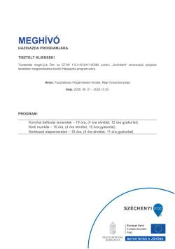 MEGHÍVÓ, Házigazda program, 2020.09.21-10.30.-1