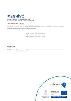 MEGHÍVÓ, Hungarikum, Orvosi tanácsadás, 2020.07.17., 17 óra, PDF-1