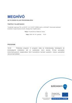 MEGHÍVÓ, Ifjúsági K., Önkéntes program, 2020.09.04., PDF-1