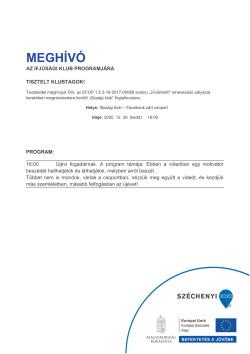 MEGHÍVÓ, Ifjúsági Klub, Újévi fogadalmak, 2020.12.29.-1