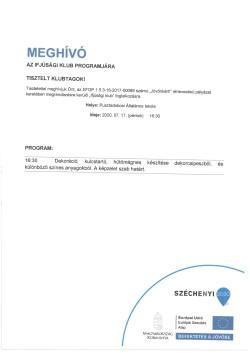 MEGHÍVÓ, Ifjúsági Klub, 2020.07.17.-1