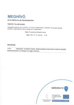 MEGHÍVÓ, Ifjúsági Klub, 2020.07.22.-1