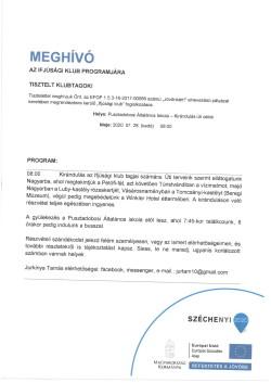 MEGHÍVÓ, Ifjúsági Klub, 2020.07.28.-1