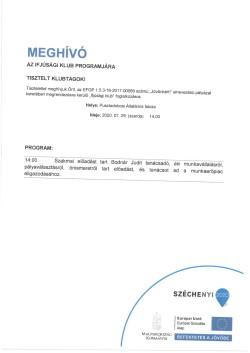 MEGHÍVÓ, Ifjúsági Klub, 2020.07.29.-1