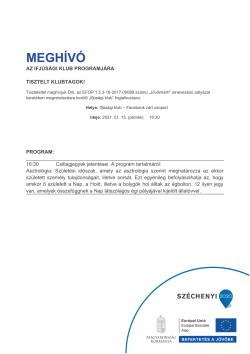 MEGHÍVÓ, Ifjúsági Klub, Csillagjegyek jelentése, 2021.01.15.-1
