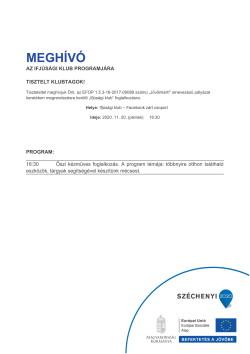 MEGHÍVÓ, Ifjúsági Klub, Kézműves foglalkozás, 2020.11.20.-1