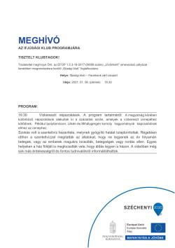 MEGHÍVÓ, Ifjúsági klub, Vízkereszti népszokások, 2021.01.08.-1