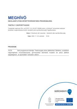 MEGHÍVÓ, Sport, 2020.11.20.-1