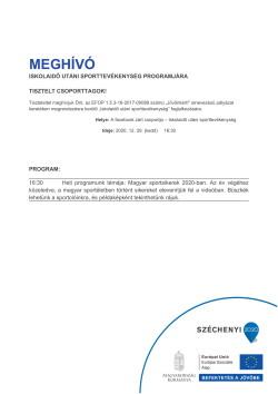 MEGHÍVÓ, Sport, 2020.12.29.-1