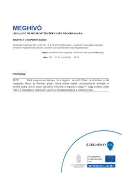 MEGHÍVÓ, Sportszervező, 2021.01.07.-1