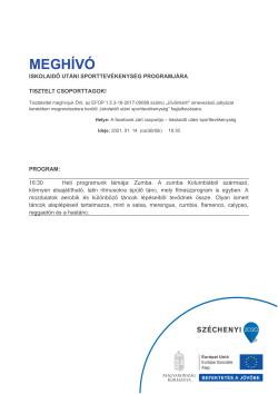 MEGHÍVÓ, Sportszervező, 2021.01.14.-1