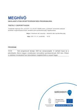 MEGHÍVÓ, Sportszervező, 2021.01.21.-1