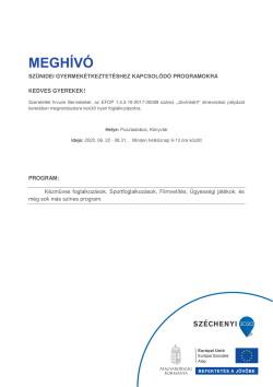 MEGHÍVÓ, Szünidei programok, 2020.06.22-08.31., PDF-1