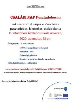 PLAKÁT, Családi Nap, 2020.08.28., PDF-1