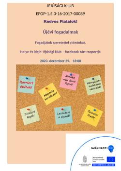PLAKÁT, Ifjúsági Klub, Újévi fogadalmak, 2020.12.29.-1