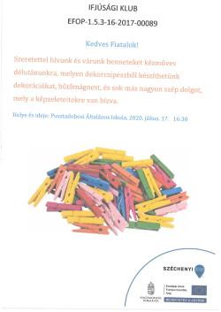 PLAKÁT, Ifjúsági Klub, 2020.07.17.-1