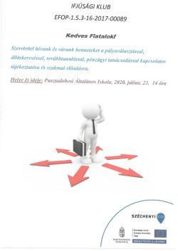PLAKÁT, Ifjúsági Klub, 2020.07.23.-1