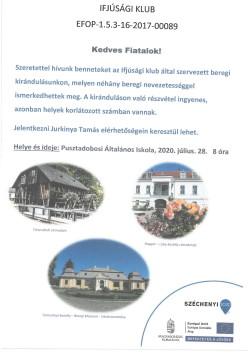 PLAKÁT, Ifjúsági Klub, 2020.07.28.-1