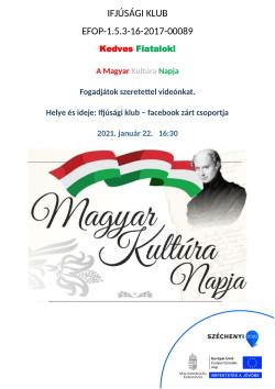 PLAKÁT, Ifjúsági Klub, A Magyar Kultúra Napja, 2021.01.22.-1