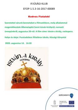 PLAKÁT, Ifjúsági Klub, Filmvetítés, 2020.08.14., PDF-1