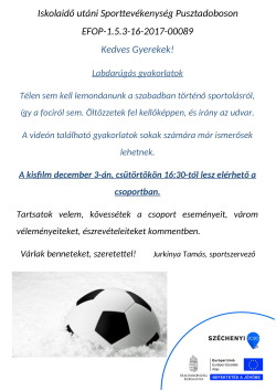 PLAKÁT, Sport, 2020.12.03.-1