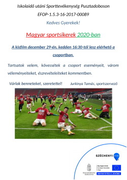 PLAKÁT, Sport, 2020.12.29.-1