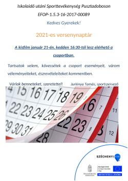 PLAKÁT, Sportszervező, 2021.01.21.-1