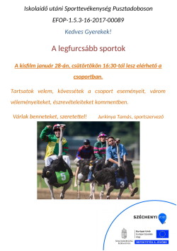 PLAKÁT, Sportszervező, 2021.01.28.-1